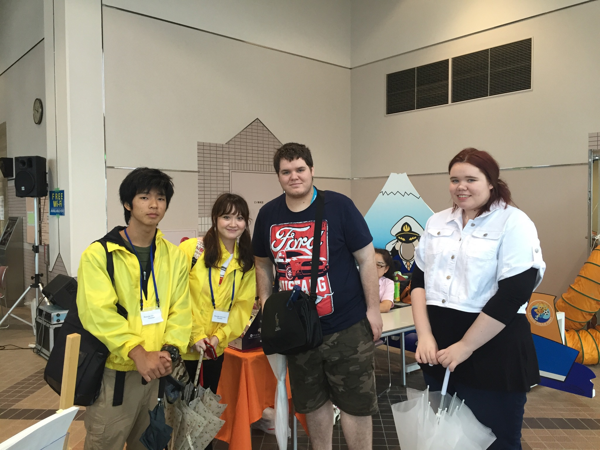 Shizuoka University students and cruise ship passengers