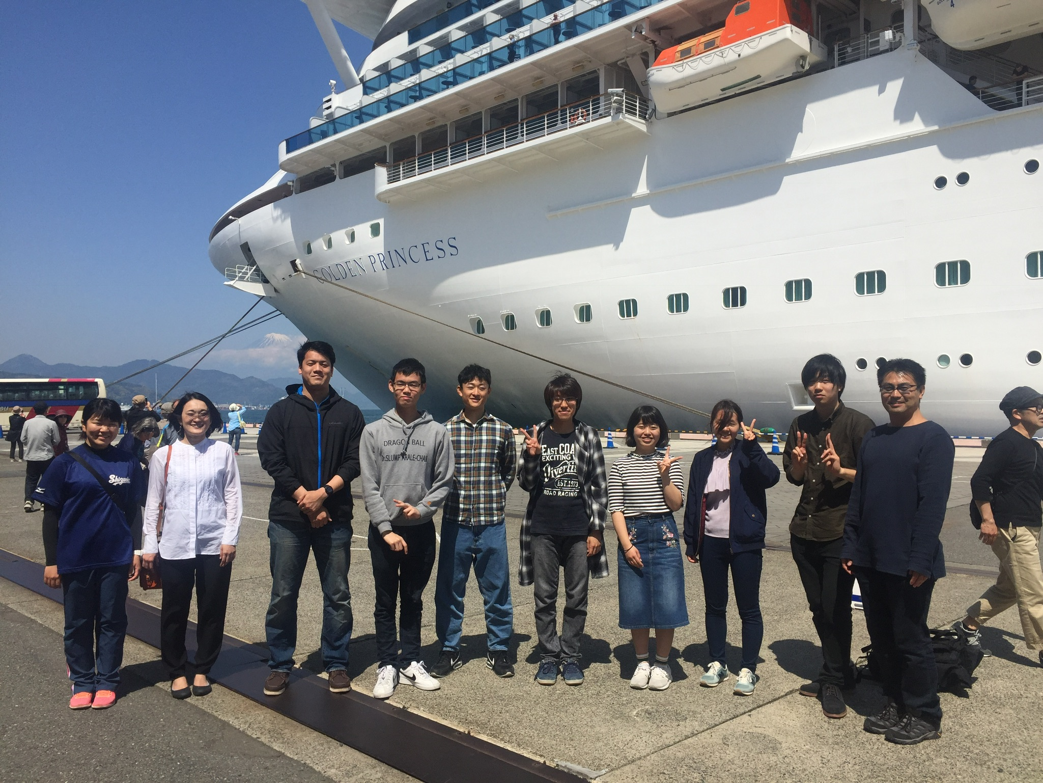 private tours with students at Shimizu Port