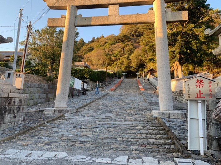 the foot of Kuno hill /stone steps lead to Kunozan Toshogu Shrine 1,159 steps