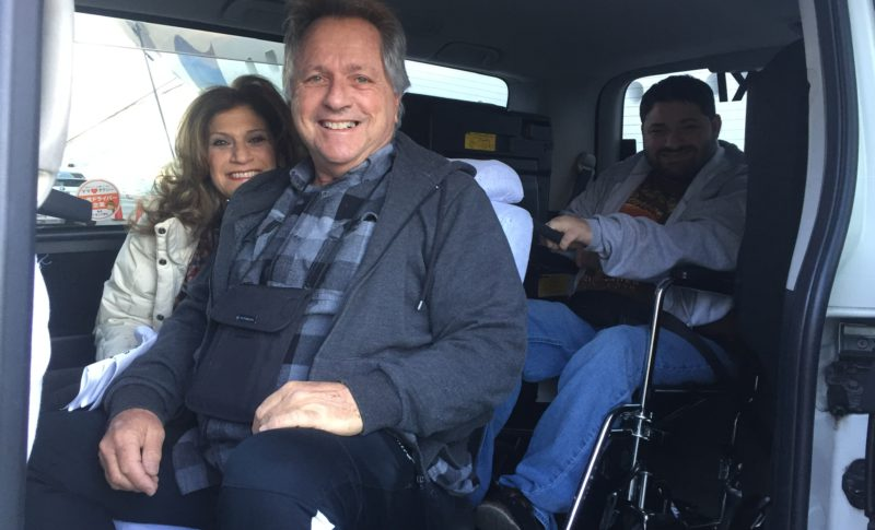 wheelchair equipped van taxi