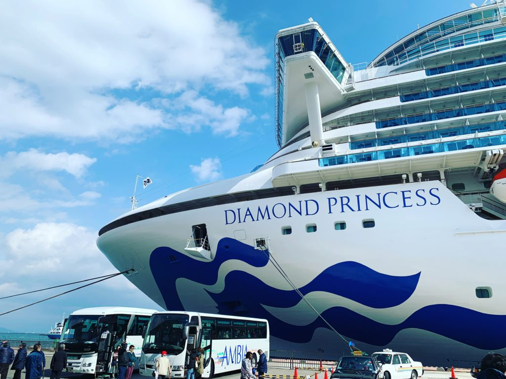 Daimond Princess called at Shimizu Port on 13th February 2019.