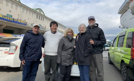 cruise ship passengers and an English speaking driver