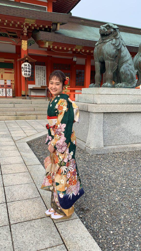 Sayaka an internship student